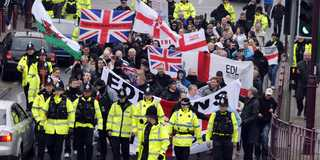 Shotton EDL protest
