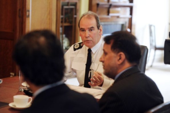 Sir Norman Bettison with Muslim community leaders