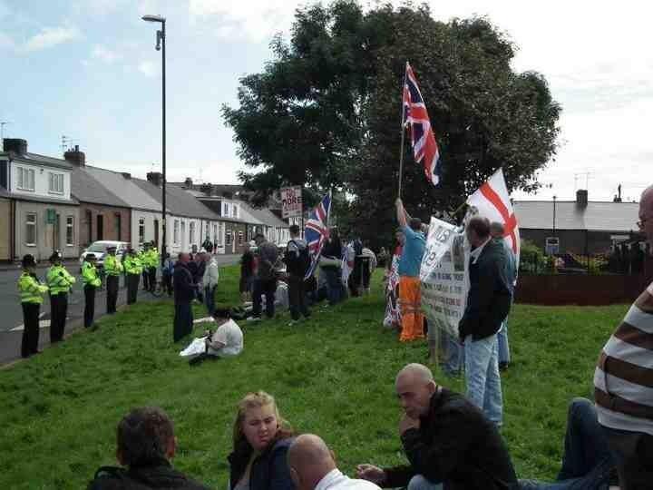 Sunderland NF anti-mosque protest