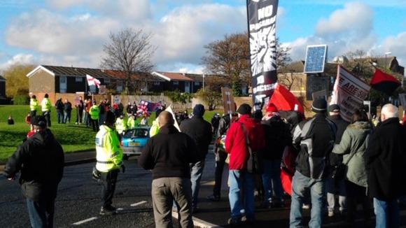 Sunderland mosque protest 17.11.12