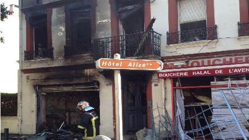 Toulouse butchers fire damage