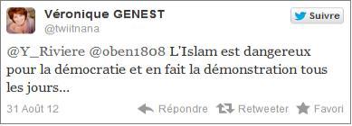 Véronique Genest tweet