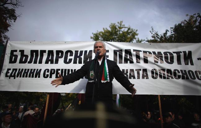Volen Siderov addresses Pazardzhik rally
