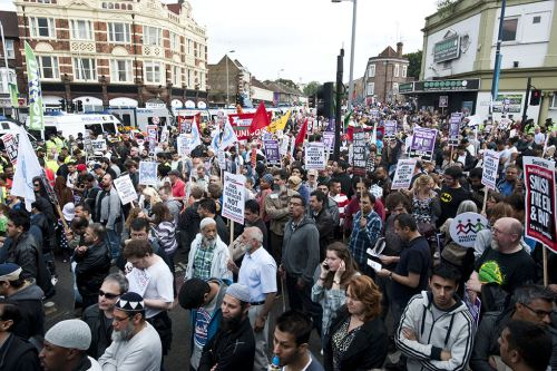 Walthamstow anti-EDL demonstration