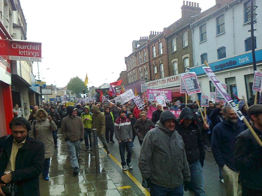 Walthamstow anti-EDL march