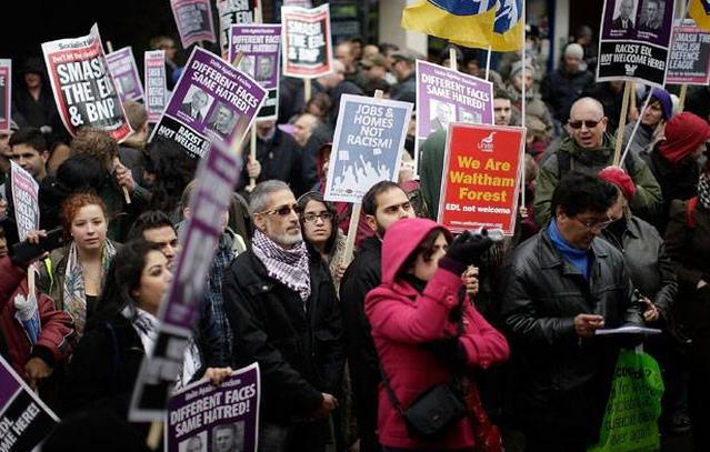 Walthamstow anti-EDL rally
