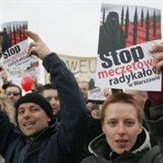Warsaw mosque protest