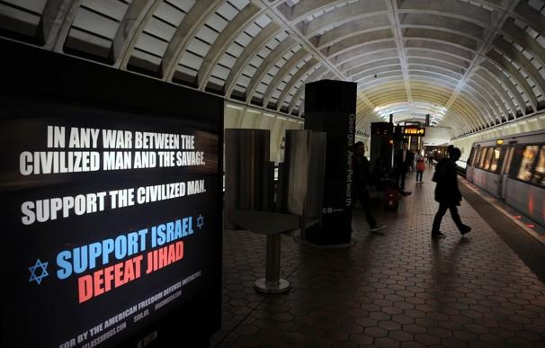 Washington subway Geller ad