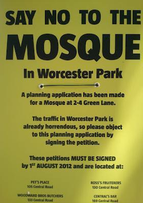 Worcester Park anti-mosque campaign