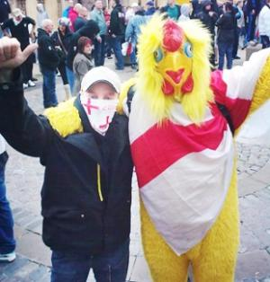 Bernard Holmes in chicken costume