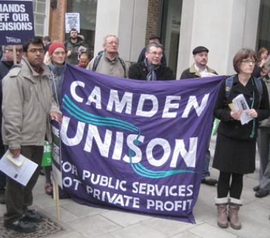 Camden UNISON banner