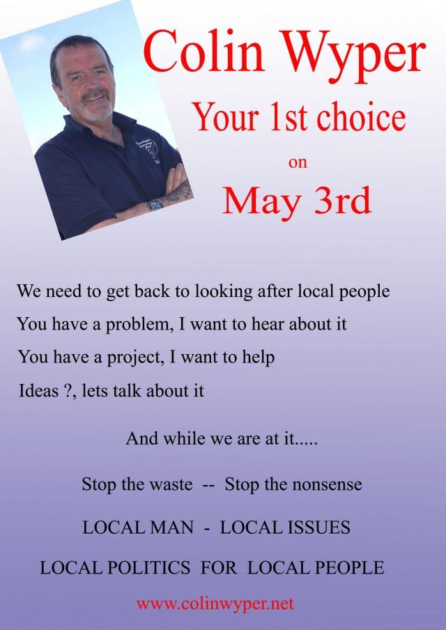 Colin Wyper election poster