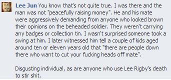 EDL Bristol Facebook comment