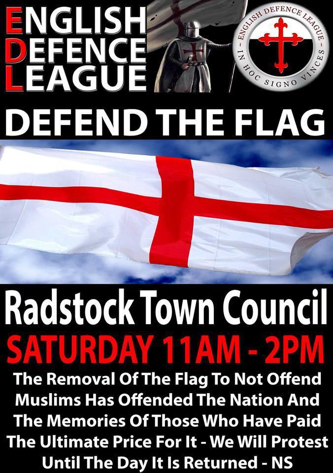 EDL Radstock protest