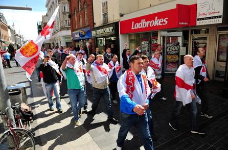 EDL march through Grimsby