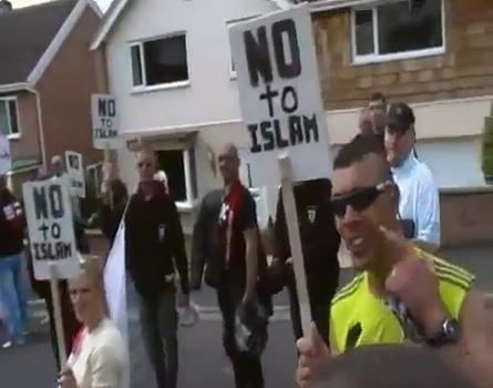 EDL protest against Sajjad Karim