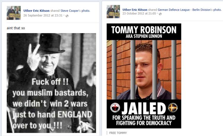 Eric Kitson Facebook posts (3)