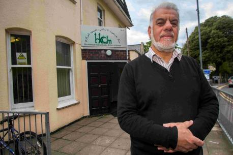 Majid Yasin outside Bournemouth Islamic Centre