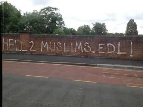 Mitcham anti-Muslim graffiti