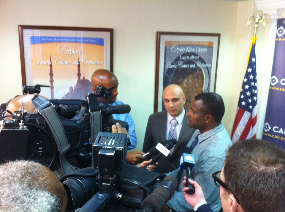 Mohamed Salim at CAIR press conference