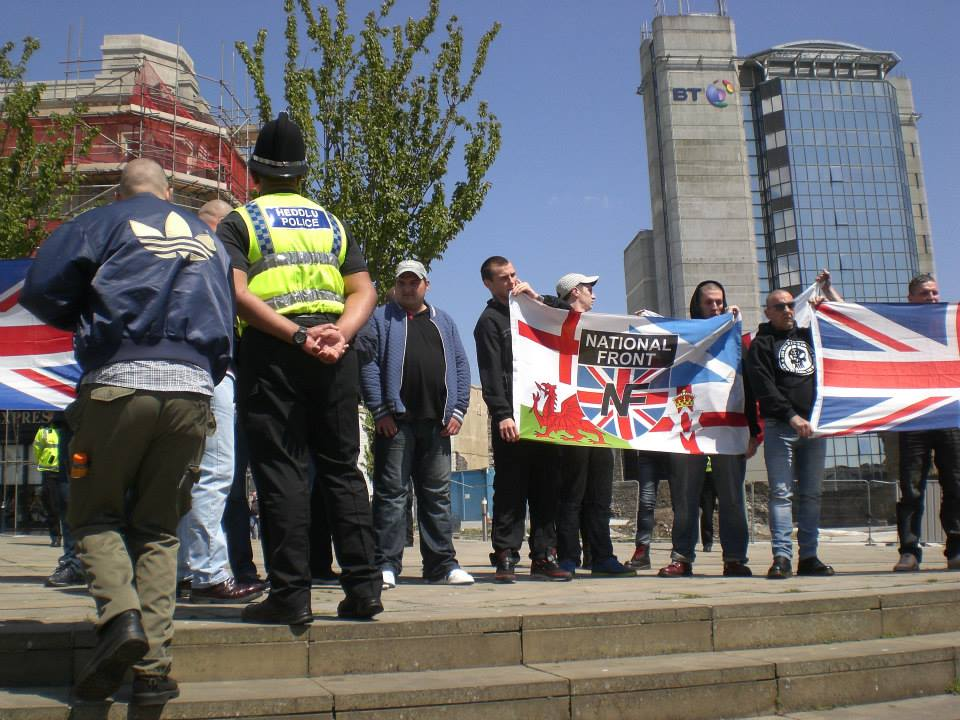 NF Swansea protest May 2013