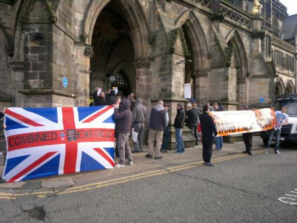 Rochdale far right protest