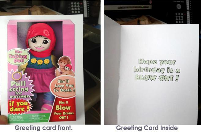 Terrorist doll card