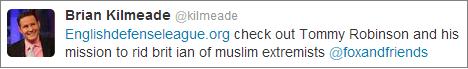 Brian Kilmeade endorses EDL