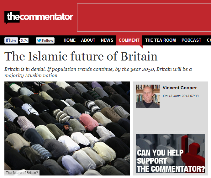 Commentator Islamic future of Britain