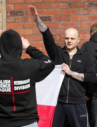 EDL nazi salute