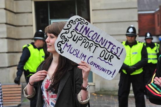 Lincoln anti-racist demonstrator