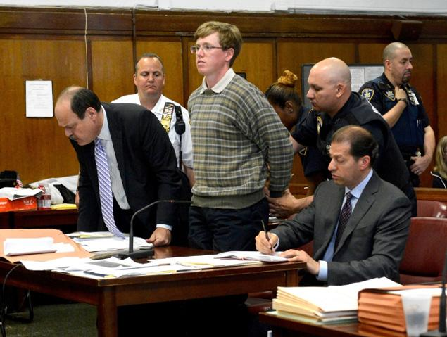 Michael Enright in court