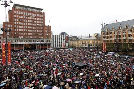 Oslo 'Children of the Rainbow' demonstration