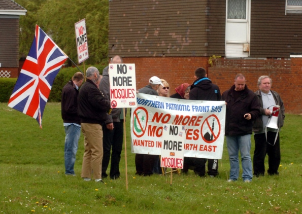 Sunderland anti-mosque protest June 2013