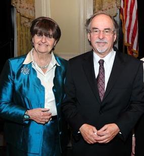Baroness Cox with David Horowitz