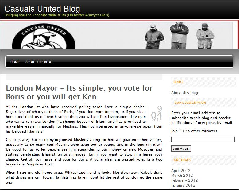 Casuals United Vote for Boris