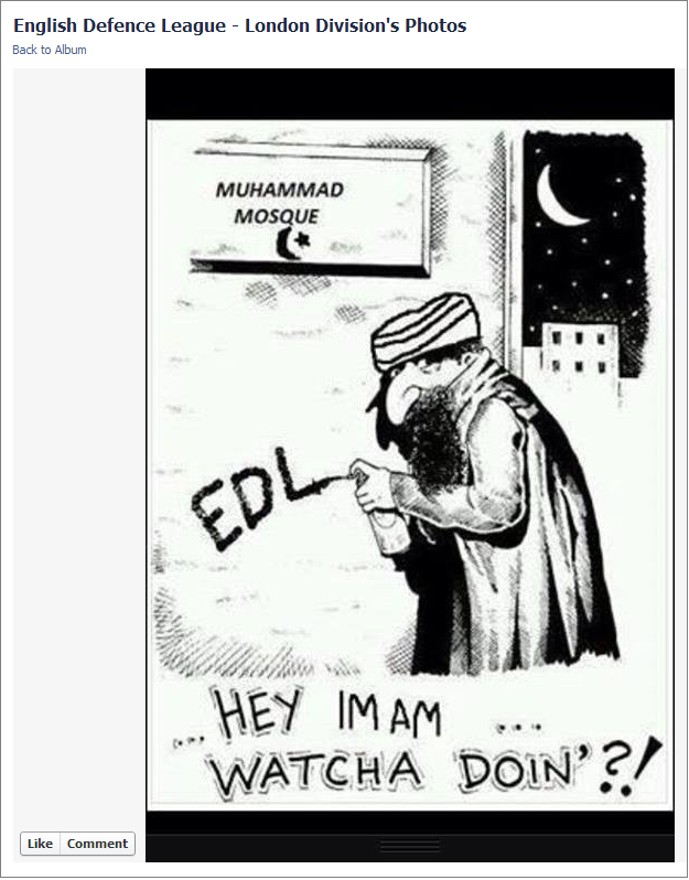 EDL Hey Imam cartoon