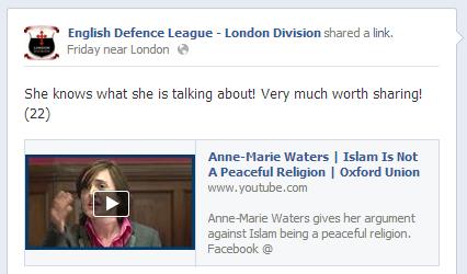 EDL backs Ann-Marie Waters