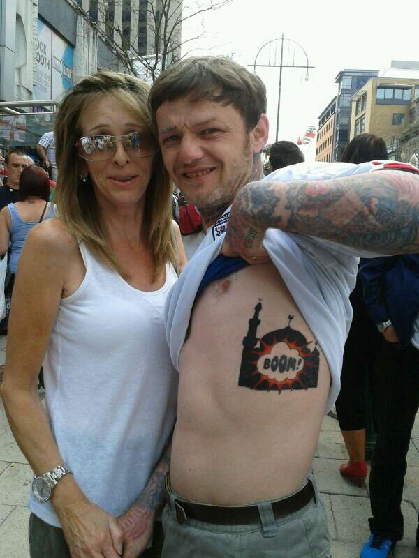 EDL mosque tattoo