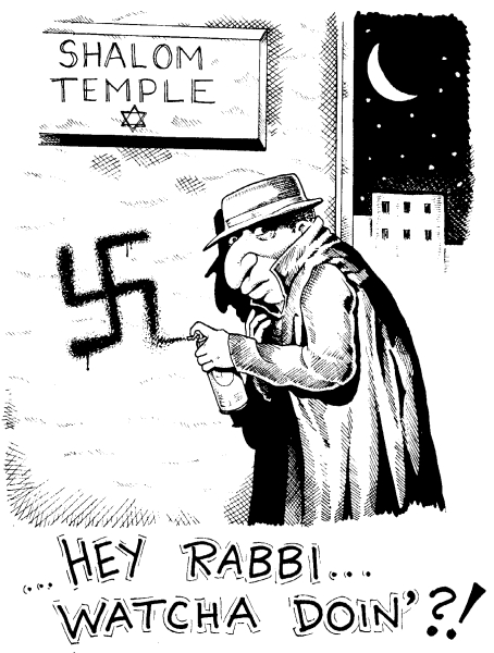 Hey Rabbi antisemitic cartoon