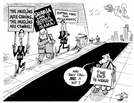Muslims Are Coming cartoon