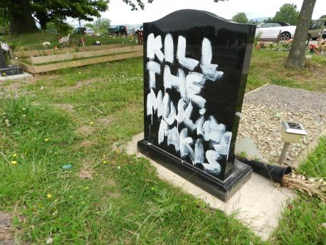 Newport cemetery graffiti(3)