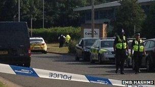 Police cordon Small Heath