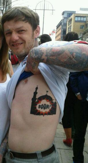 south shields mosque bomb boom tattoo edl man arrested