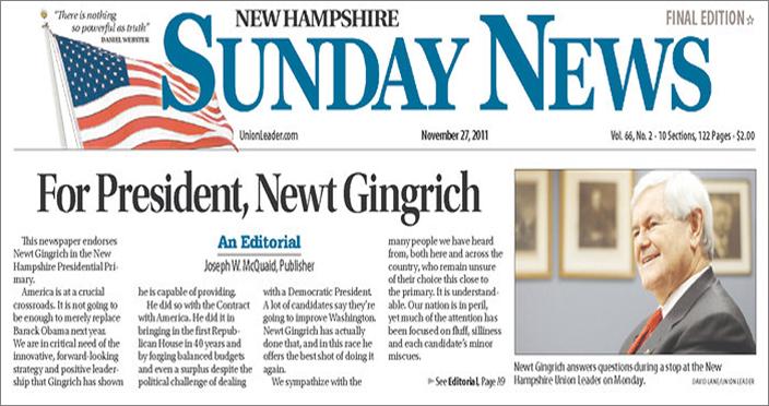 Sunday News Gingrich
