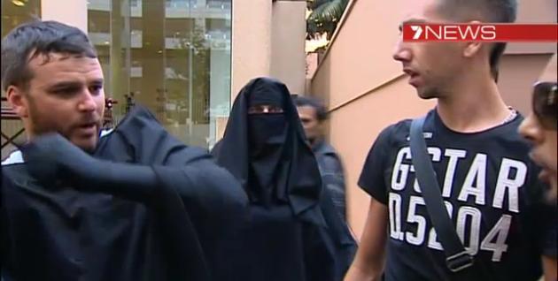 Sydney burqa stunt