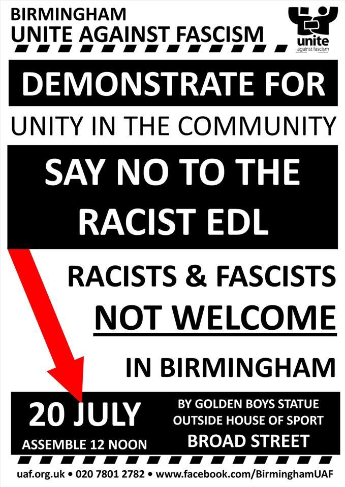 UAF Birmingham demonstration