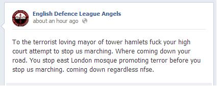 EDL Angels Tower Hamlets
