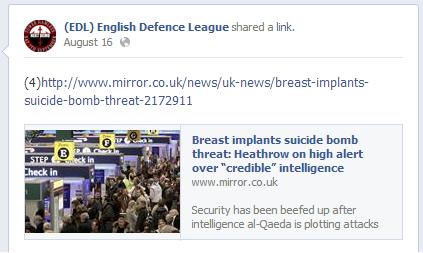EDL breast implants bomb story