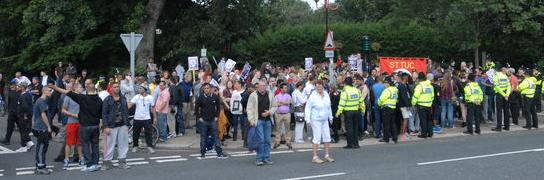 South Shields anti-fascist counter-demonstration